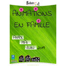 Animations famille d'avril à juin 2019