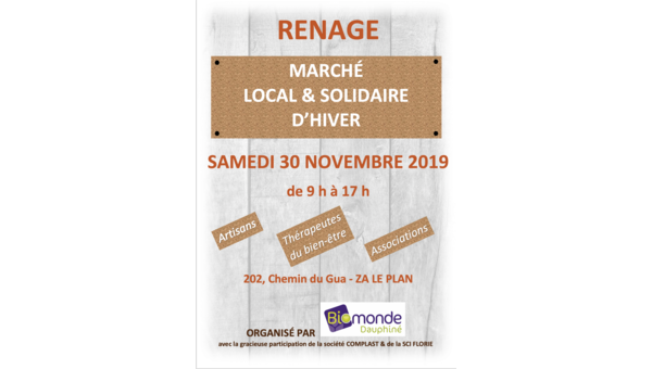 Un marché local et solidaire à Renage !
